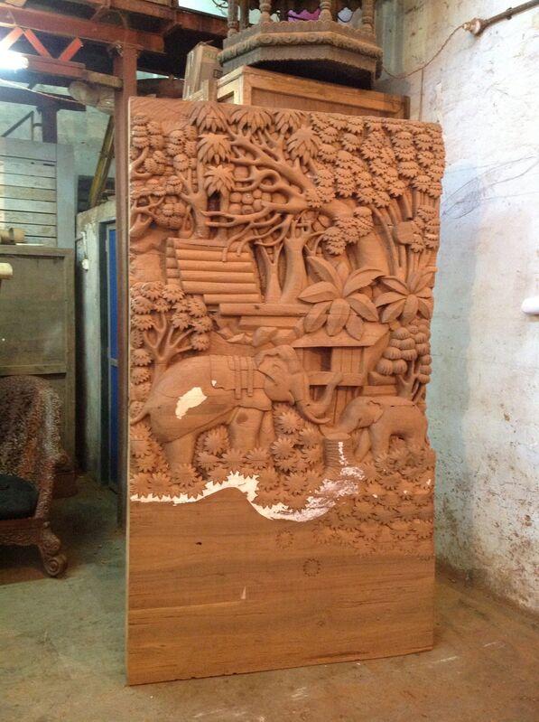 Sudarshan Shetty, 'Path to Water', 2013, Sculpture, Recycled teak wood, Gallery Ske