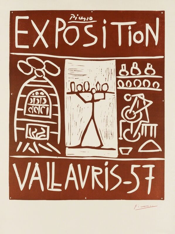 Pablo Picasso, 'Exposition Vallauris 57 (Bloch 1277)', 1957, Print, Linocut printed in brown, Forum Auctions