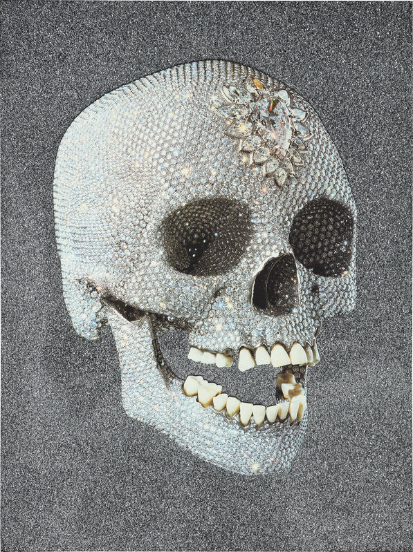 Damien Hirst, 'For the Love of God, Laugh', 2007, Print, Screenprint in colors, with glazes and diamond dust, on wove paper, the full sheet., Phillips
