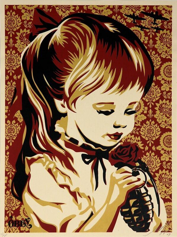 Shepard Fairey, 'War by Numbers (Red)', 2007, Print, Limited edition serigraph on paper, Addicted Art Gallery