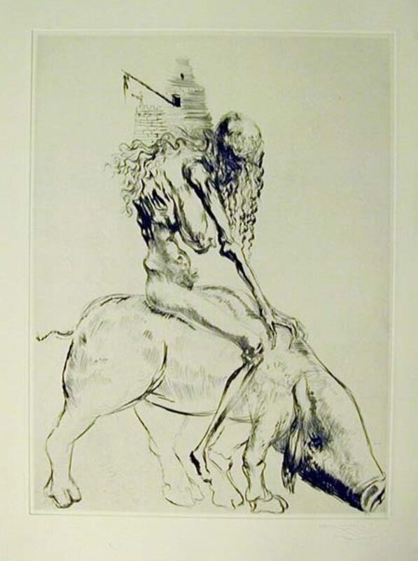 Salvador Dalí, 'Woman with Pig', 1969, Drawing, Collage or other Work on Paper, Original engraving, Dali Paris
