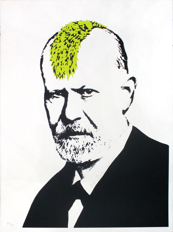 Mr. Brainwash, 'Victory of Mind (Freud)', 2019, Print, Silkscreen on paper, DANE FINE ART
