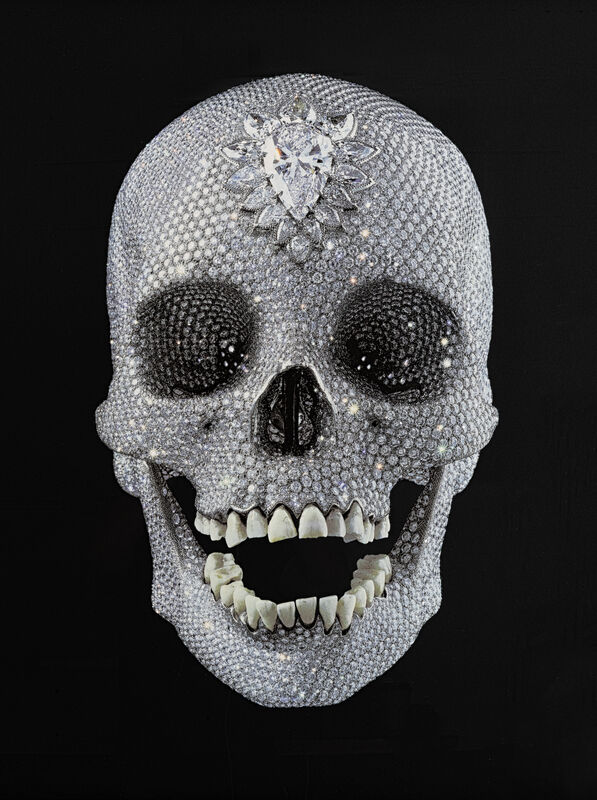 Damien Hirst, 'For The Love Of God', Print, Screen print in colours with diamond dust on black wove paper, Tate Ward Auctions