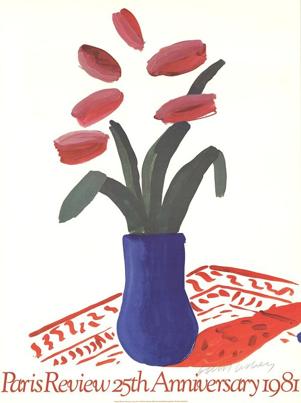 David Hockney, 'Paris Review 25th Anniversary', 1980, Posters, Offset Lithograph, ArtWise