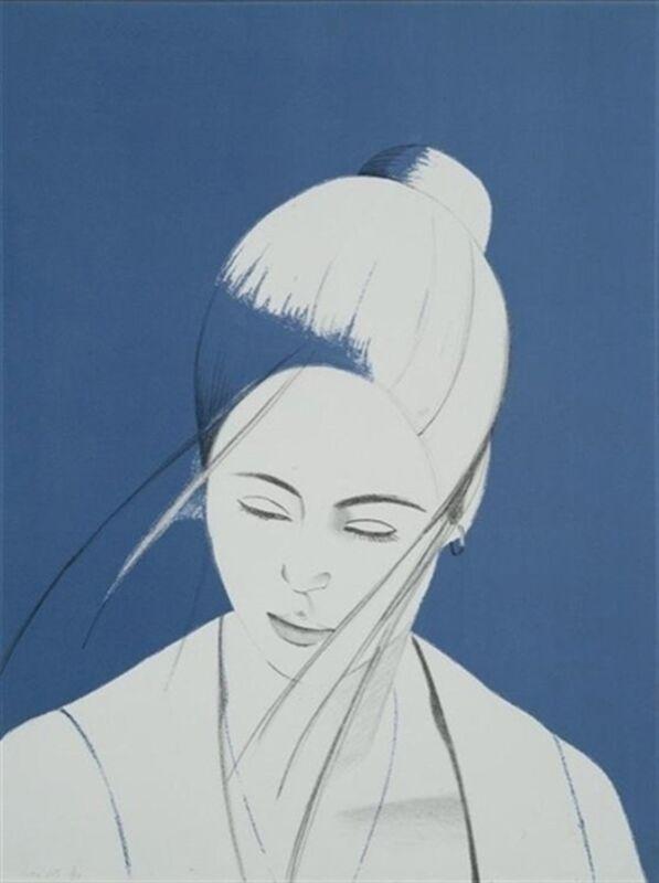 Alex Katz, 'Blue Pamela', 1977, Print, Lithograph, Marlborough New York