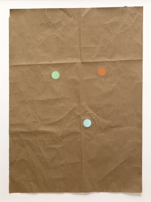 Stephen Dean, 'Juggler 21', 2014, Drawing, Collage or other Work on Paper, Kraft paper and dichroic glass, McClain Gallery