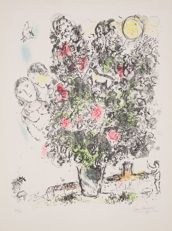 Marc Chagall, 'Le Bouquet clair (The Light Bouquet)', 1970, Print, Lithograph in colours, on Arches paper, with full margins., Phillips