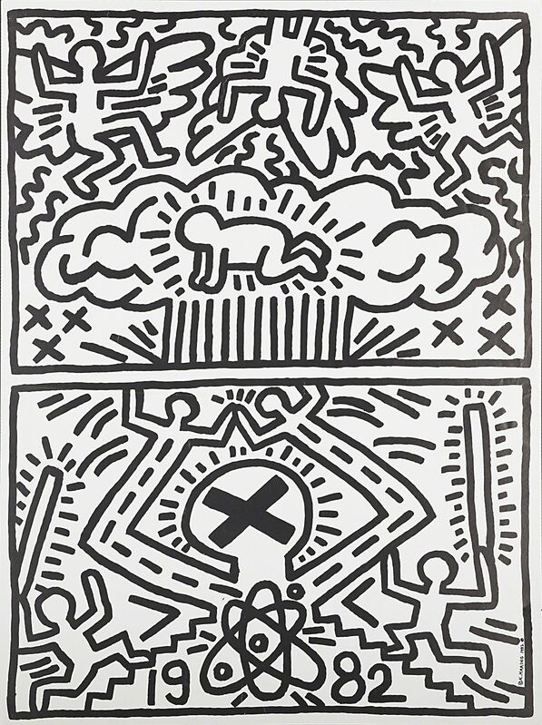 Keith Haring, 'Anti-Nuclear Rally', 1982, Print, Offset lithographic poster on glazed paper, Rago/Wright