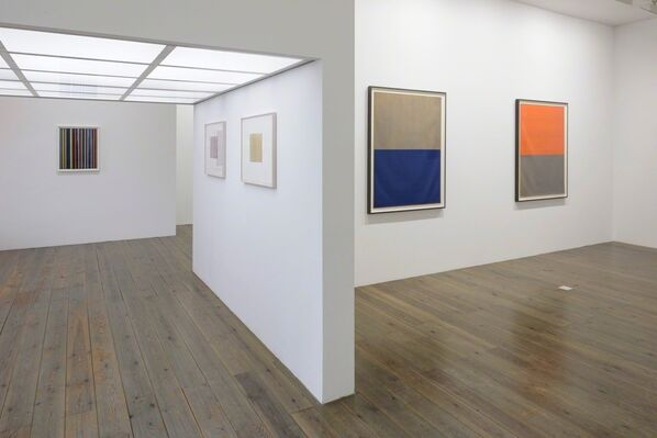 Works on Paper: Callum Innes, Dan Walsh, Ian Davenport, Paul Drissen, Steven Aalders, installation view