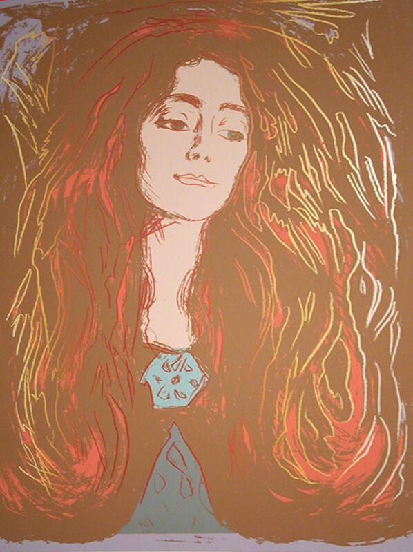 Andy Warhol, 'Eva Mudocci (After Munch)', 1984, Print, Unique silkscreen on Lennox Museum Board, Woodward Gallery