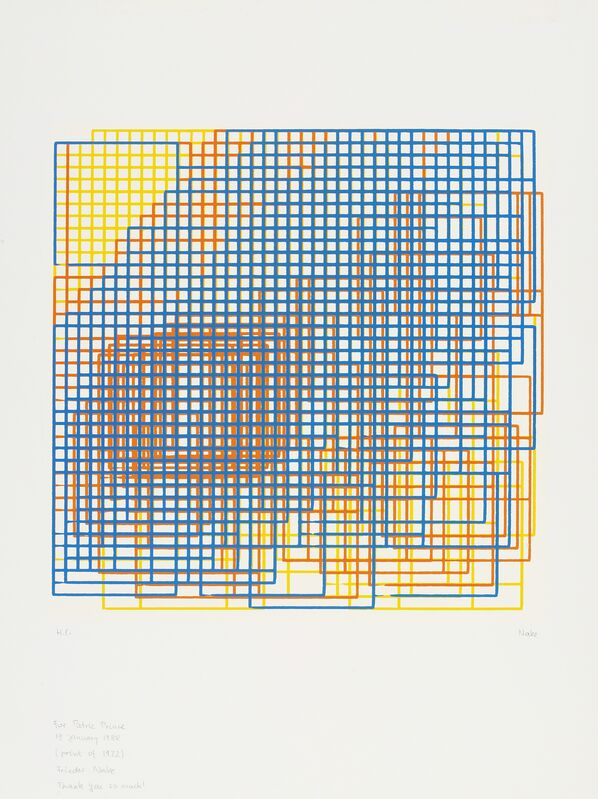 Frieder Nake, 'Walk-Through-Raster Vancouver Version', 1972, Print, Screenprint on paper after computer generated drawing, Whitechapel Gallery
