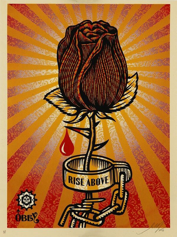 Shepard Fairey, 'Rose Shackle', 2006, Print, Limited edition serigraph on paper, Addicted Art Gallery