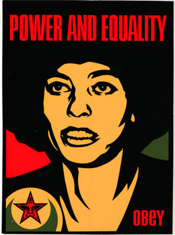 Shepard Fairey, 'Power and Equality Angela', 1998, Print, Screenprint, EHC Fine Art