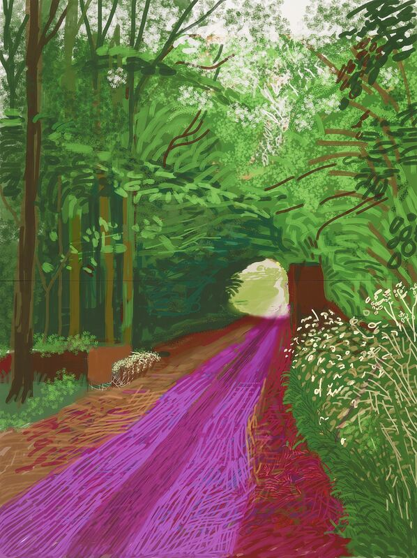 David Hockney, 'The arrival of spring in Woldgate, East Yorkshire in 2011 (twenty eleven)– 31 May, No. 1 (900)', 2011, Print, IPad drawing printed on 6 sheets of paper mounted on Dibond, National Gallery of Victoria