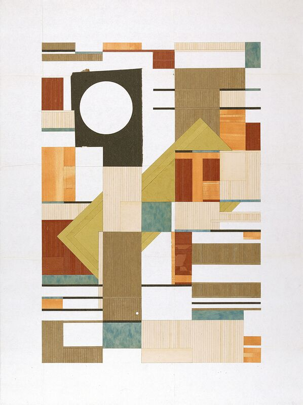 Jacob Whibley, 'a tiled inquirer', 2012, Mixed Media, Paper ephemera on panel, Narwhal Projects