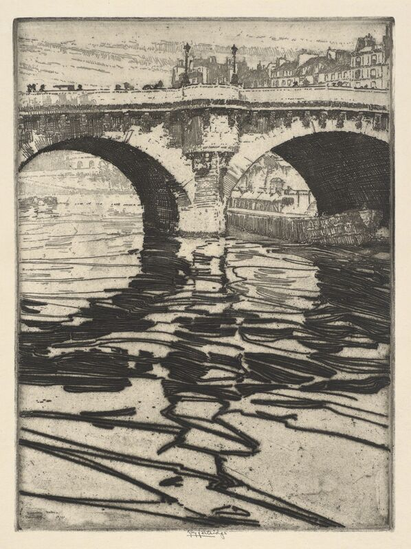 Roi Partridge, 'Dancing Water (Pont Neuf)', 1911, Other, Etching, de Young Museum