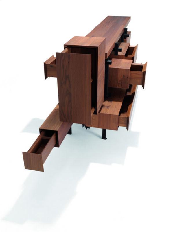 Roderick Vos, 'Montigny', 2013, Design/Decorative Art, Smoked oak wood, powder-coated steel, Priveekollektie Contemporary Art   Design