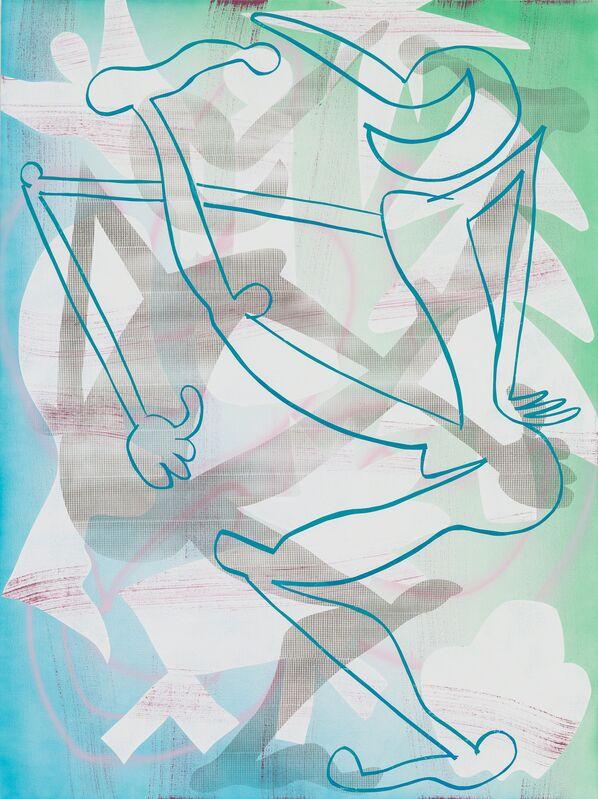 Todd Kelly, 'High Kick Jolly Liar 2', 2015, Painting, Oil, acrylic, spray paint on canvas, Asya Geisberg Gallery