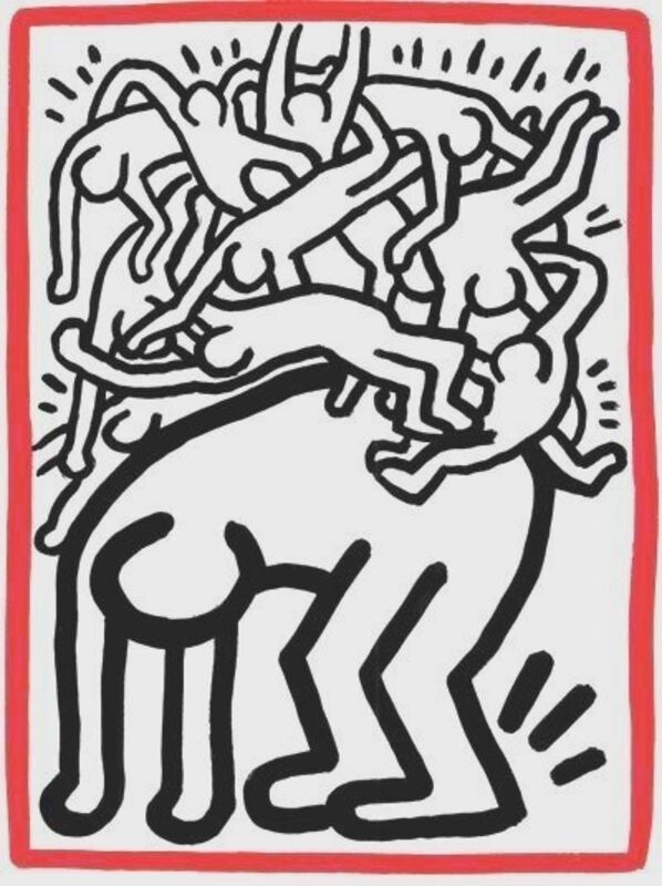 Keith Haring, 'Fight Aids Worldwide', 1990, Print, Lithograph, Composition.Gallery