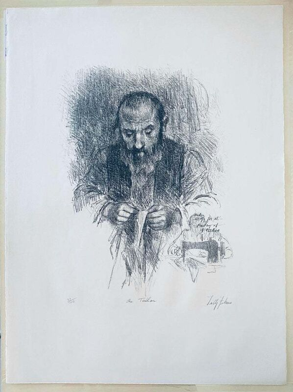 Tully Filmus, 'The Tailor', 20th Century, Print, Lithograph, Paper, Lions Gallery