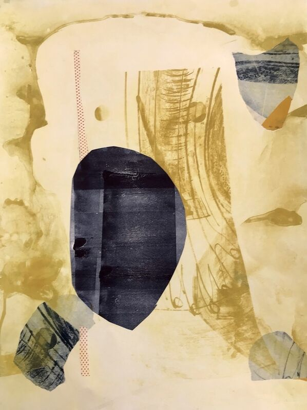 Mary Crenshaw, 'Bounce 11', 2020, Mixed Media, Mono print chine collé, ink on paper, The Painting Center
