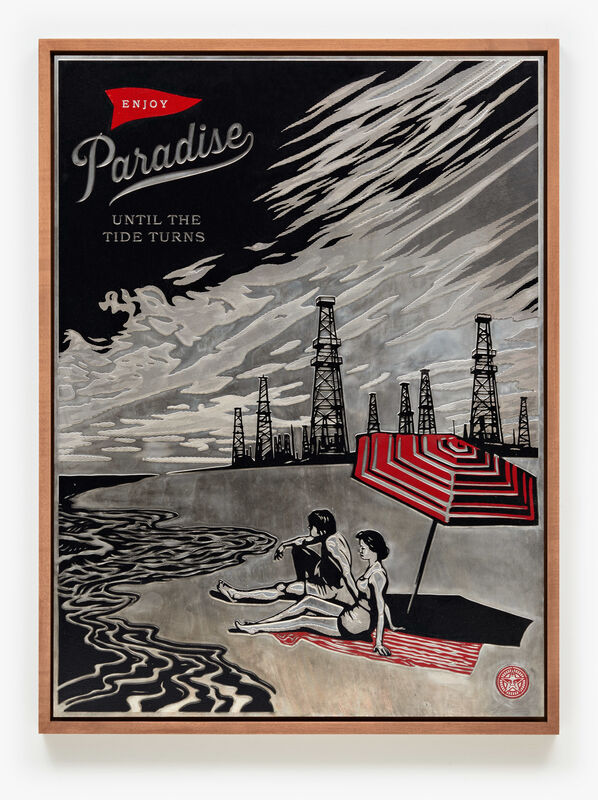Shepard Fairey, 'Paradise Turns, Plate', 2015, Print, Hand-Rubbed, rolled and transferred ink on photo-etched magnesium plate, Pace Prints