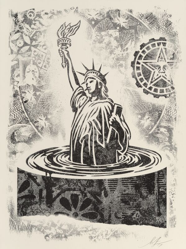 Shepard Fairey, 'Damaged Stencil (set of 8)', 2017, Print, Offset lithographs on cream paper, Heritage Auctions