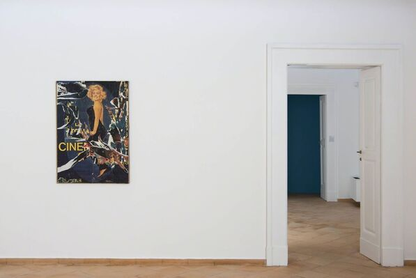 "Mimmo Rotella - Anna Franceschini ""Things on films"", installation view"