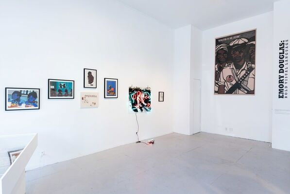 Emory Douglas: Bold Visual Language, installation view