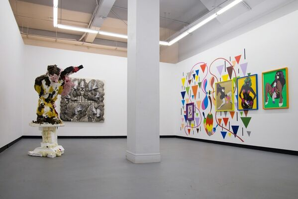 Objects in the rearview mirror are closer than they appear : ASSUME VIVID ATRO FOCUS, DONNA CONLON & JONATHAN HARKER, JAMIE FITZPATRICK, JOSE LERMA, installation view