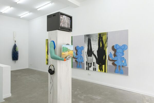 Think about all the James Deans and what it means, installation view