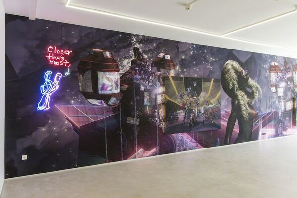 Two man show - Luis Gispert and Jacolby Satterwhite, installation view