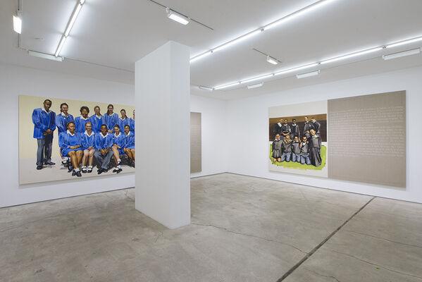 Meleko Mokgosi: Democratic Intuition, Comrades II, installation view