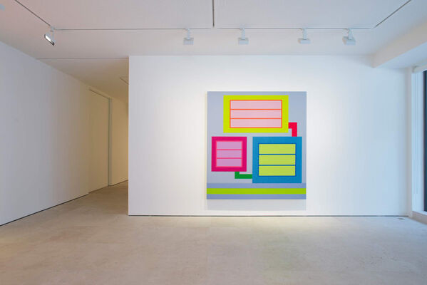 Peter Halley: New Paintings, installation view