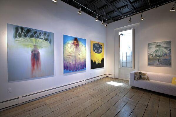 BIG COLLARS new paintings by BARBARA FRIEDMAN, installation view