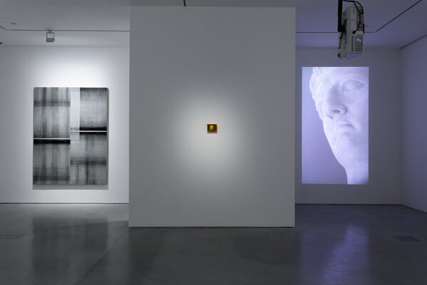 LOOKING AT ONE THING AND THINKING OF SOMETHING ELSE, installation view