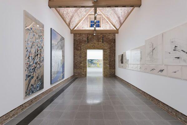Zaha Hadid: Early Paintings and Drawings, installation view