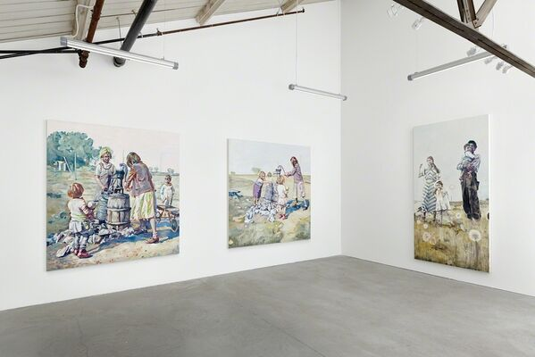 Hung Liu: Promised Land, installation view