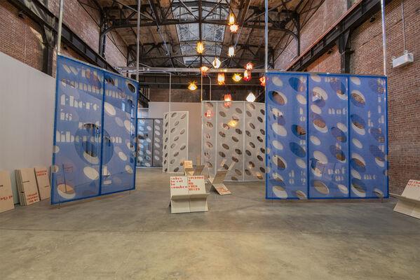 Rafael Domenech: Model to exhaust this place (SculptureCenter Pavilion), installation view