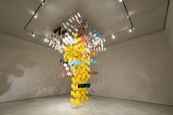 Jacob Hashimoto: The First Known Map of the Moon, installation view