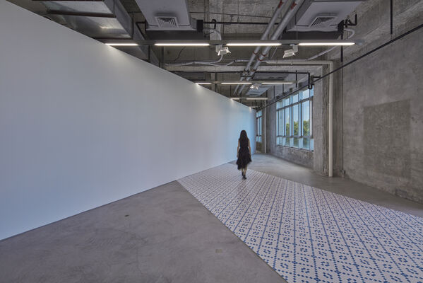 That is a Layer of Gauze that Mimics the Texture of the Wall, installation view