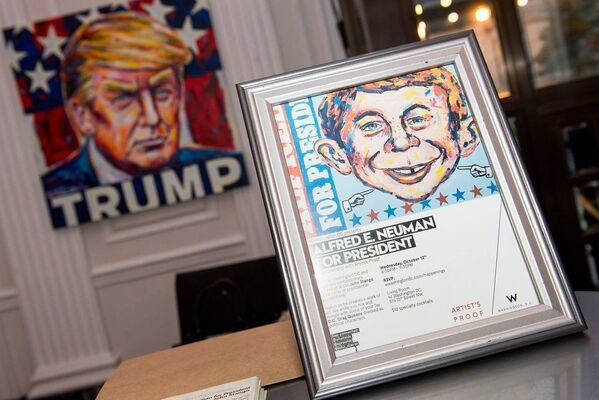 Alfred E. Neuman for President: Featuring works from John Stango, installation view