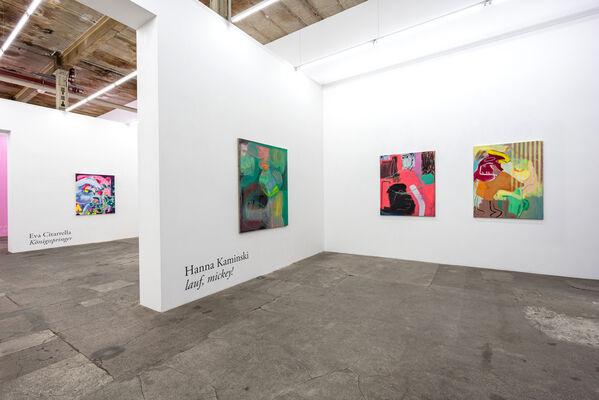 Hanna Kaminski: lauf, mickey !, installation view
