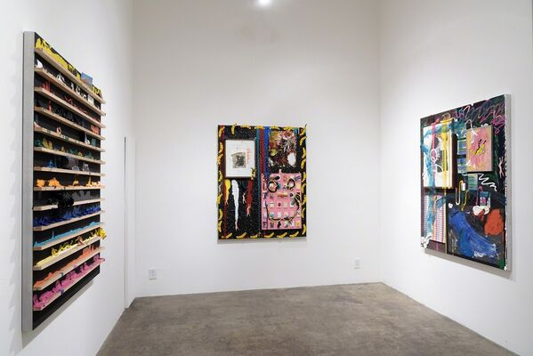"""Devin Troy Strother: """"It's a kickback, not a party"""" @ Yes, Please & Thank You (a Richard Heller Gallery Project Space), installation view"""