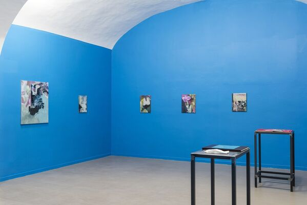 One foot in the world and the other in the stillness, installation view