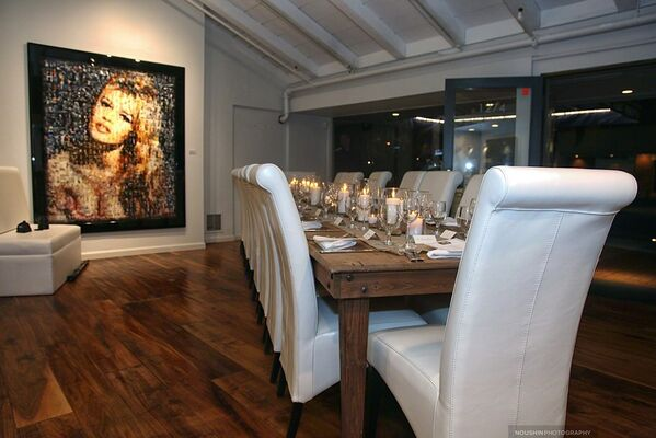 "Jerome Lucani: Icons ""Collector Dinner Series"", installation view"