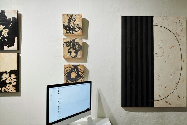 An Affair with Black: Abstract Expressionism by Helen Bellaver, installation view