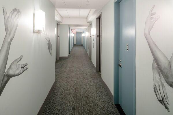 Hallway Hijack, installation view
