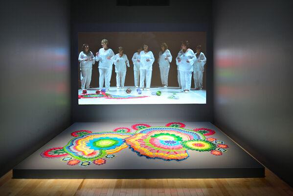 Movilizando afectos: Coparticipación e inserción local, tres proyectos artísticos. Edgardo Aragón, Cadu y Rafiki Sánchez, installation view