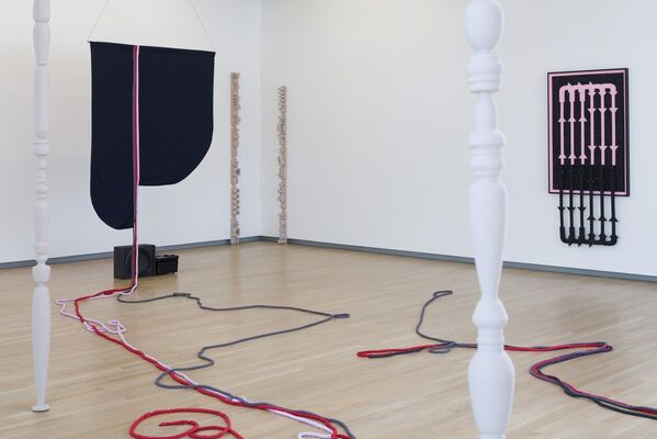 """Alison O'Daniel: Say the word """"NOWHERE."""" Say """"HEADPHONES."""" Say """"NOTHING."""", installation view"""